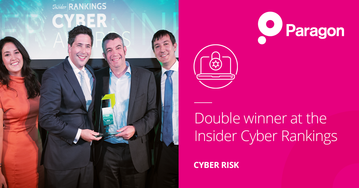 Double Winner At The Insider Cyber Rankings Awards 2019 Paragon